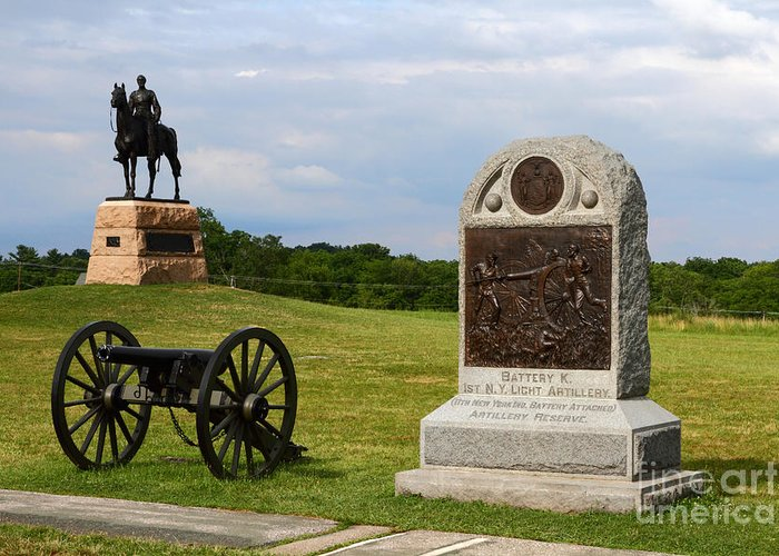 Gettysburg Greeting Card featuring the photograph Cemetery Ridge Gettysburg by James Brunker
