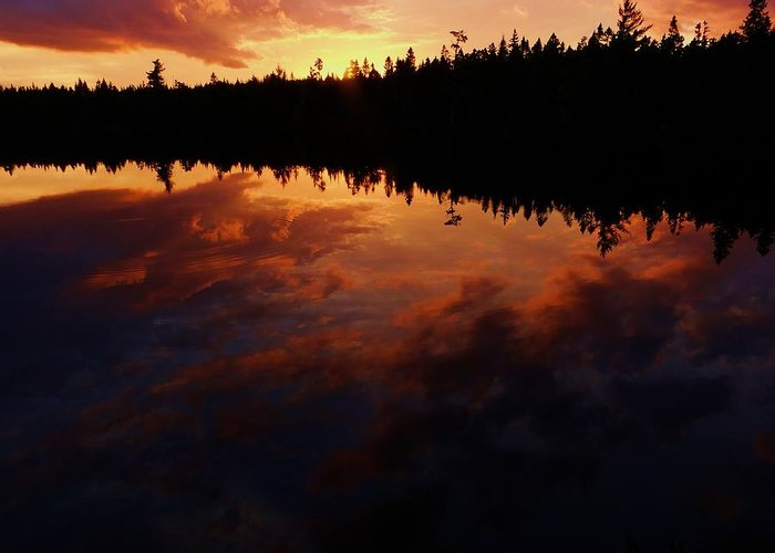 Center Pond Greeting Card featuring the photograph Center Pond Baxter State Park by Tim Canwell