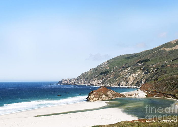 Big Sur Greeting Card featuring the photograph Central Coast Beach Near Cambria And San Simeon by Artist and Photographer Laura Wrede