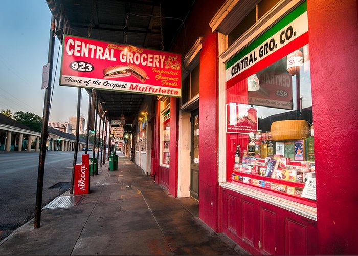 New Orleans Greeting Card featuring the photograph Central Grocery And Deli In New Orleans by Andy Crawford