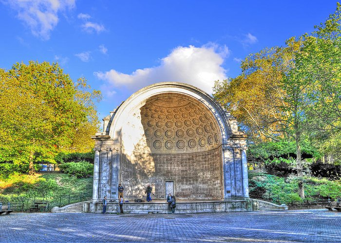 Central Park Greeting Card featuring the photograph Central Park's Naumburg Bandshell by Randy Aveille