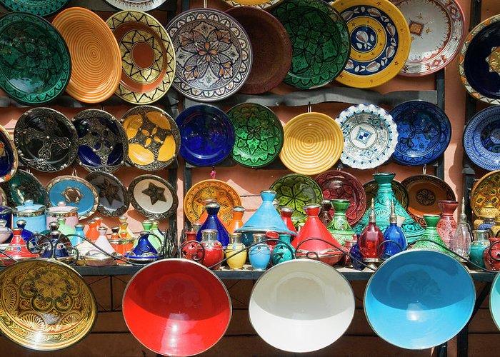 African Ceramics Greeting Cards