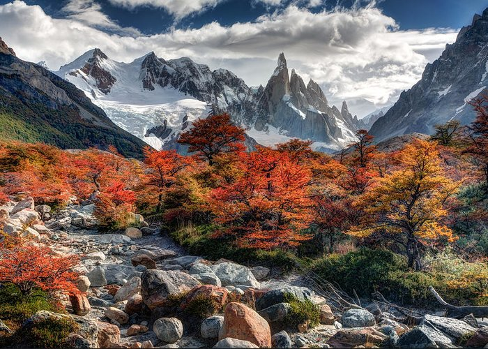 Argentina Greeting Card featuring the photograph Cerro Torre 3 by Roman St