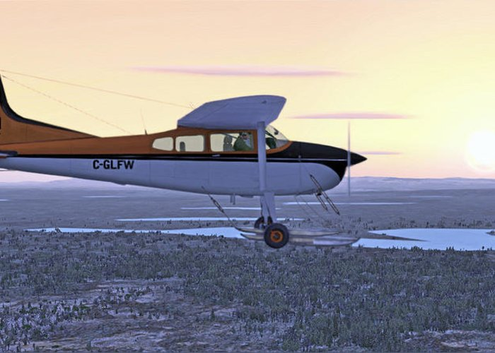 Cessna 185f Greeting Card featuring the digital art Cessna 185f  by Walter Colvin