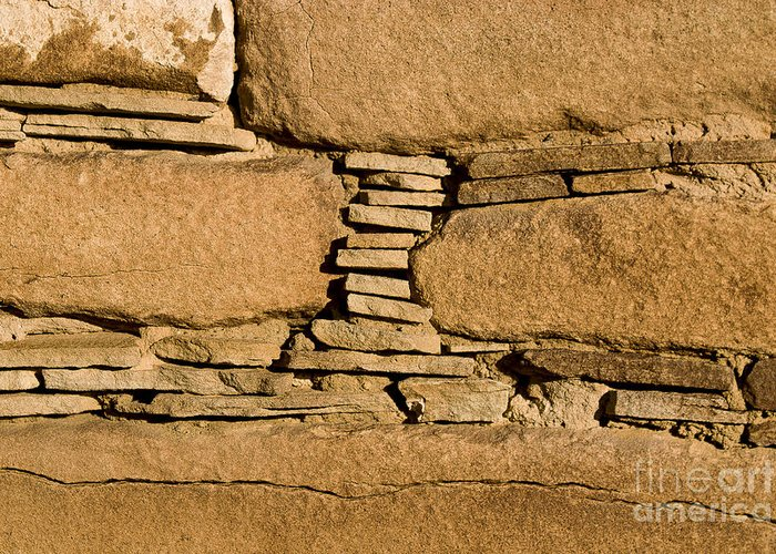 Chaco Greeting Card featuring the photograph Chaco Bricks by Steven Ralser