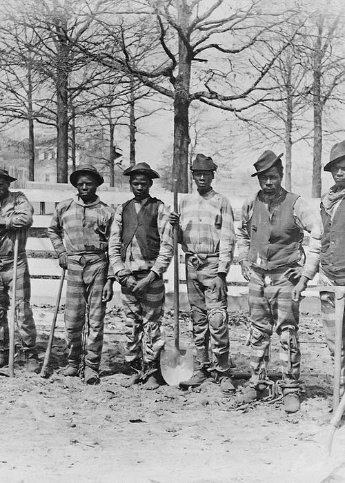 Chain Gang Greeting Card featuring the photograph Chain Gang C. 1885 by Daniel Hagerman