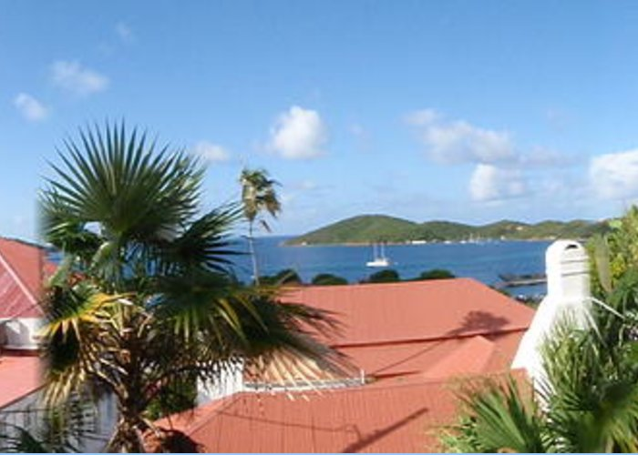 Charlotte Amalie Bay Greeting Card featuring the photograph Chalotte Amalie Bay by Russell Windle