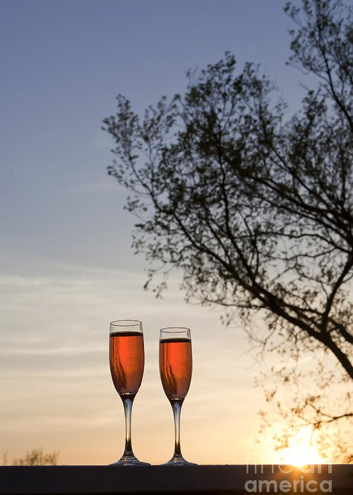 Champagne Greeting Card featuring the photograph Champagne For Two by Kay Pickens