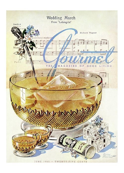 Illustration Greeting Card featuring the photograph Champagne Punch And The Wedding March by Henry Stahlhut