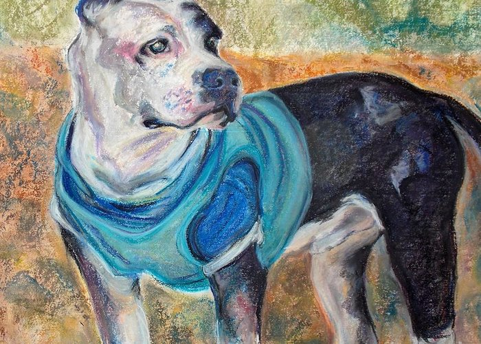 Brightside Animal Center Greeting Card featuring the pastel Chance by Mindy Sue Werth