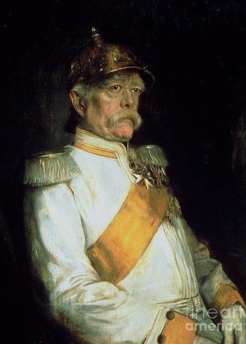 Chancellor Otto Von Bismarck Greeting Card featuring the painting Chancellor Otto Von Bismarck by Franz Seraph von Lenbach