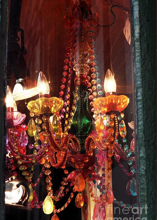 New Orleans Greeting Card featuring the photograph Chandelier by John Rizzuto