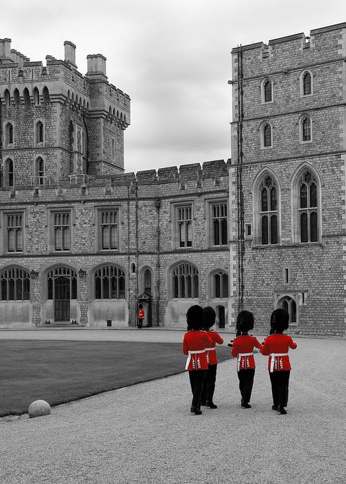Lisa Knechtel Greeting Card featuring the photograph Changing Of The Guard At Windsor Castle by Lisa Knechtel
