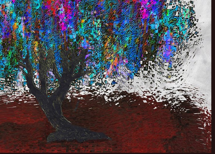 Digital Greeting Card featuring the painting Changing Tree by Jack Zulli