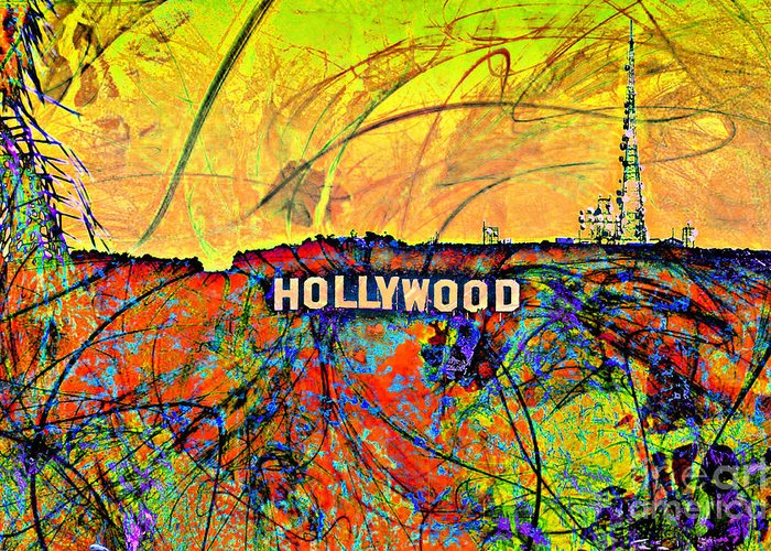 Los Angeles Greeting Card featuring the digital art Chaos by Az Jackson