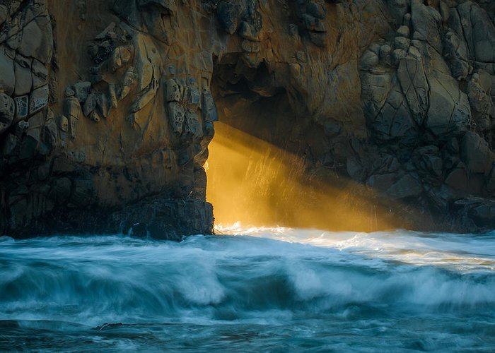 Chaos Greeting Card featuring the photograph Chaos - Pfeiffer Beach by George Buxbaum