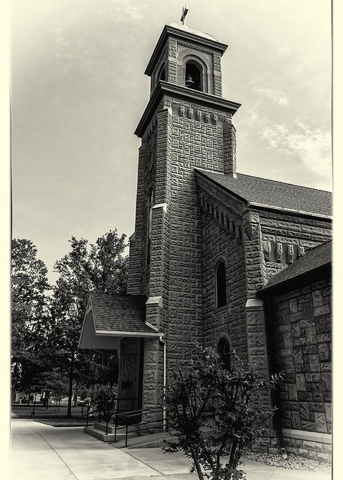 The Sorrowful Mother Shrine Greeting Card featuring the photograph Chapel by Niecy Love