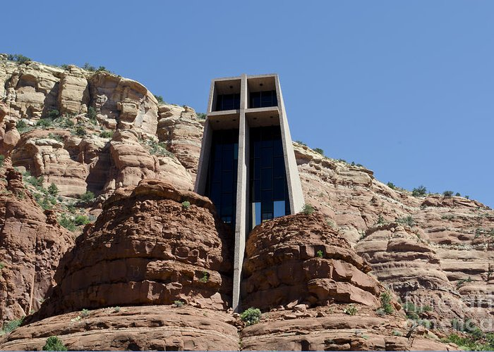 Chapel. Holy Greeting Card featuring the photograph Chapel Of The Holy Cross by David Gordon