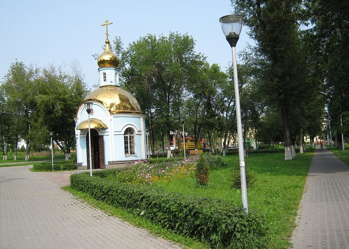 Chapel Greeting Card featuring the photograph Chapel. Two Ways by Sergey Kolpashnikov