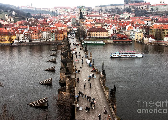 Charles Bridge Greeting Card featuring the photograph Charles Bridge I by John Rizzuto