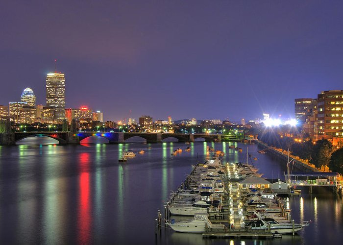 John Hancock Greeting Card featuring the photograph Charles River Country Club by Joann Vitali