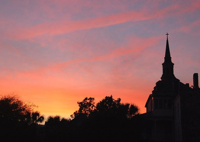 Charleston Greeting Card featuring the photograph Charleston At Dusk by Suzanne Gaff