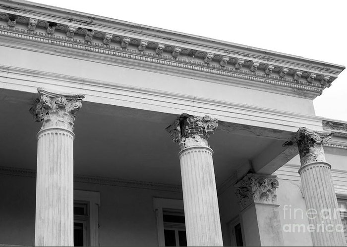 Charleston Greeting Card featuring the photograph Charleston Columns by Manda Renee