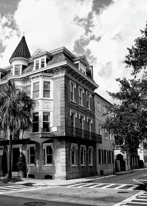 Charleston Greeting Card featuring the photograph Charleston Corner Charleston Sc by William Dey