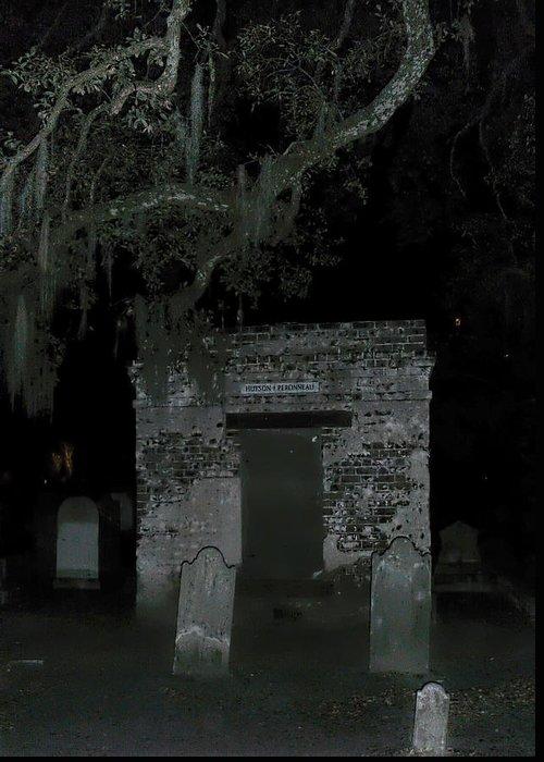 Charleston Graveyard Greeting Card featuring the photograph Charleston Graveyard by Jemmy Archer