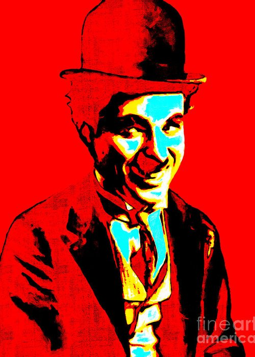 Charlie Greeting Card featuring the photograph Charlie Chaplin 20130212 by Wingsdomain Art and Photography