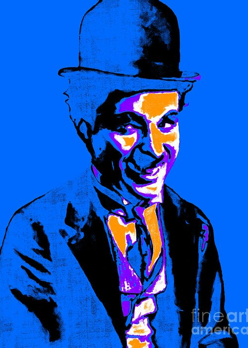 Charlie Greeting Card featuring the photograph Charlie Chaplin 20130212m145 by Wingsdomain Art and Photography