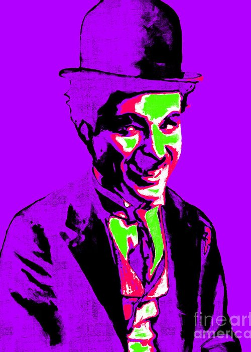 Charlie Greeting Card featuring the photograph Charlie Chaplin 20130212m78 by Wingsdomain Art and Photography