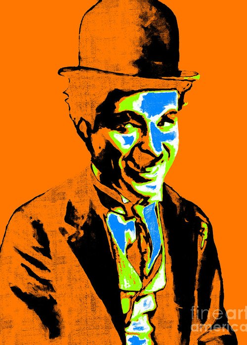 Charlie Greeting Card featuring the photograph Charlie Chaplin 20130212p28 by Wingsdomain Art and Photography