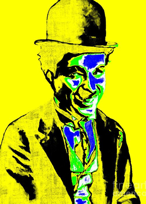 Charlie Greeting Card featuring the photograph Charlie Chaplin 20130212p60 by Wingsdomain Art and Photography