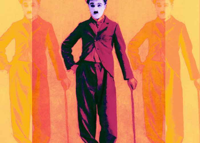 Charlie Greeting Card featuring the photograph Charlie Chaplin The Tramp Three 20130216 by Wingsdomain Art and Photography