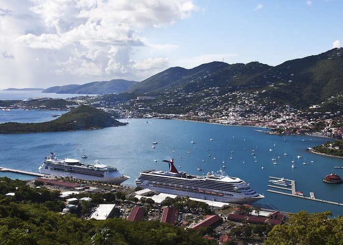 Charlotte Amalie Greeting Card featuring the photograph Charlotte Amalie by Steve Taylor