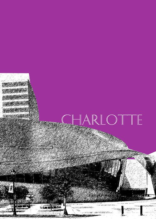Architecture Greeting Card featuring the digital art Charlotte Nascar Hall Of Fame - Plum North Carolina by DB Artist