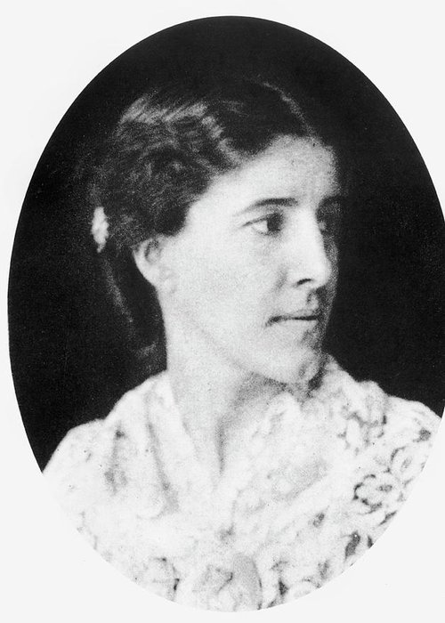 1890 Greeting Card Featuring The Photograph Charlotte Perkins Gilman1860 1935 By Granger