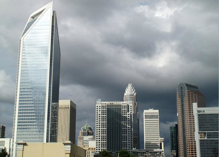 Charlotte Greeting Card featuring the photograph Charlotte Skyline by Randall Weidner