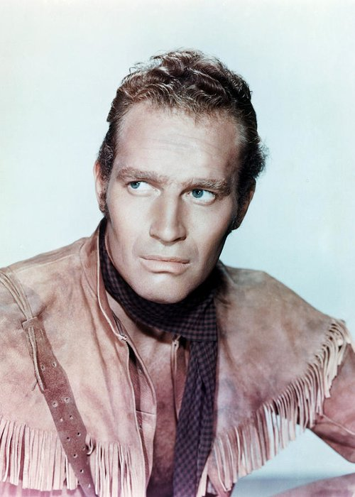 Pony Express Greeting Card featuring the photograph Charlton Heston In Pony Express by Silver Screen