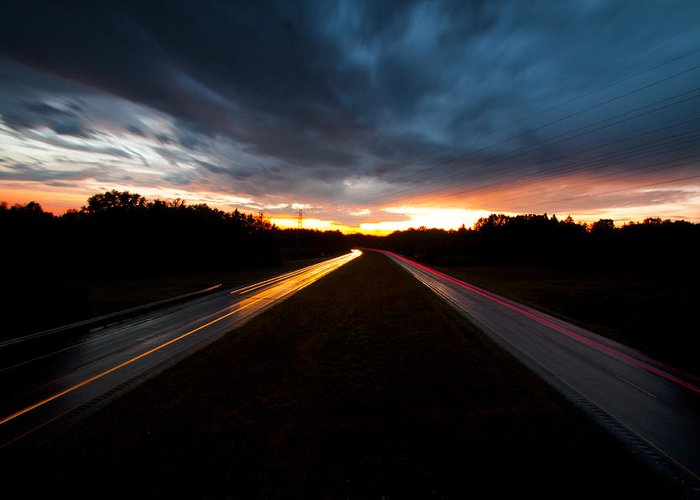 Ohio Greeting Card featuring the photograph Chasing Light by Nikolas Kolenich