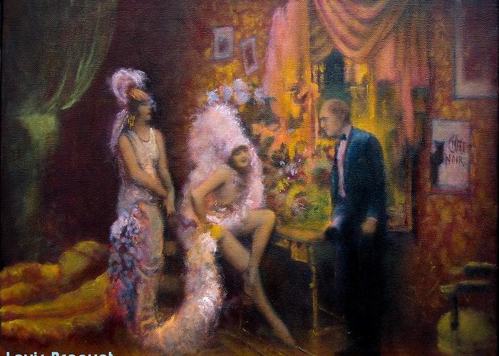 1930s Candid Paintings Greeting Cards