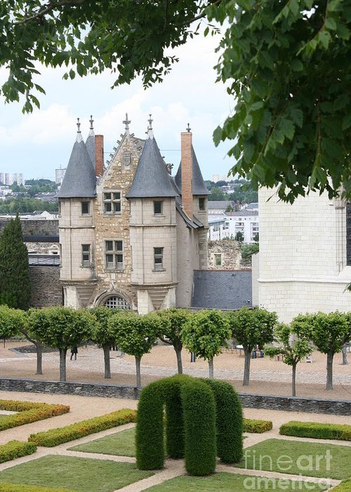 Castle Greeting Card featuring the photograph Chateau D'angers - Chatelet View by Christiane Schulze Art And Photography