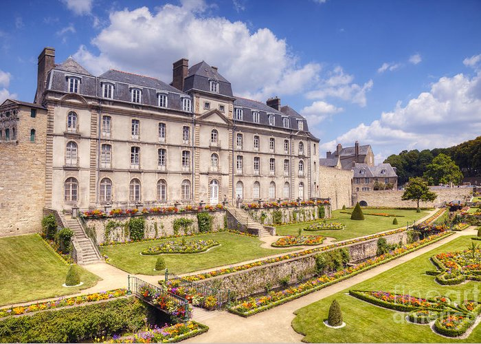 Brittany Greeting Card featuring the photograph Chateau De L Hermine Vannes Brittany by Colin and Linda McKie