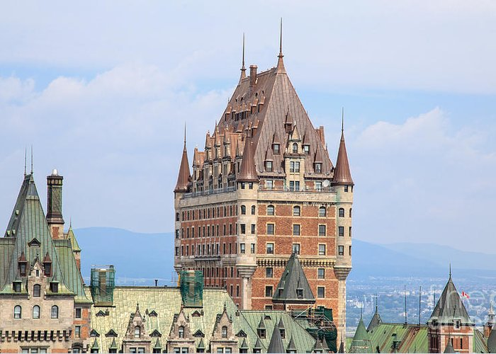 2013 Greeting Card featuring the photograph Chateau Frontenac Quebec City Canada by Edward Fielding