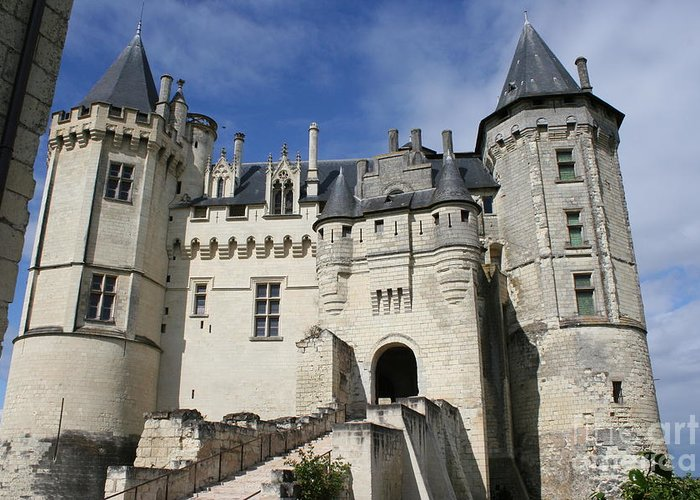 Castle Greeting Card featuring the photograph Chateau Saumur by Christiane Schulze Art And Photography