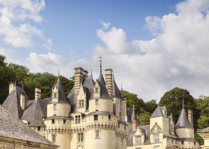 Architecture Greeting Card featuring the photograph Chateau Usse Loire Valley France by Colin and Linda McKie