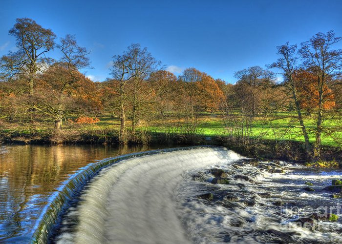 Weir Greeting Card featuring the photograph Chatsworth Weir by David Birchall