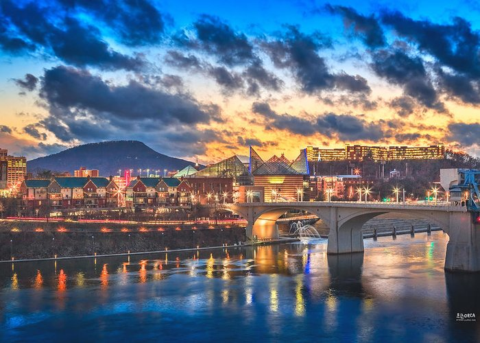 Chattanooga Greeting Card featuring the photograph Chattanooga Evening After The Storm by Steven Llorca