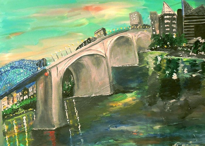 Chattanooga Tennessee Greeting Card featuring the photograph Chattanooga by Mark Moore